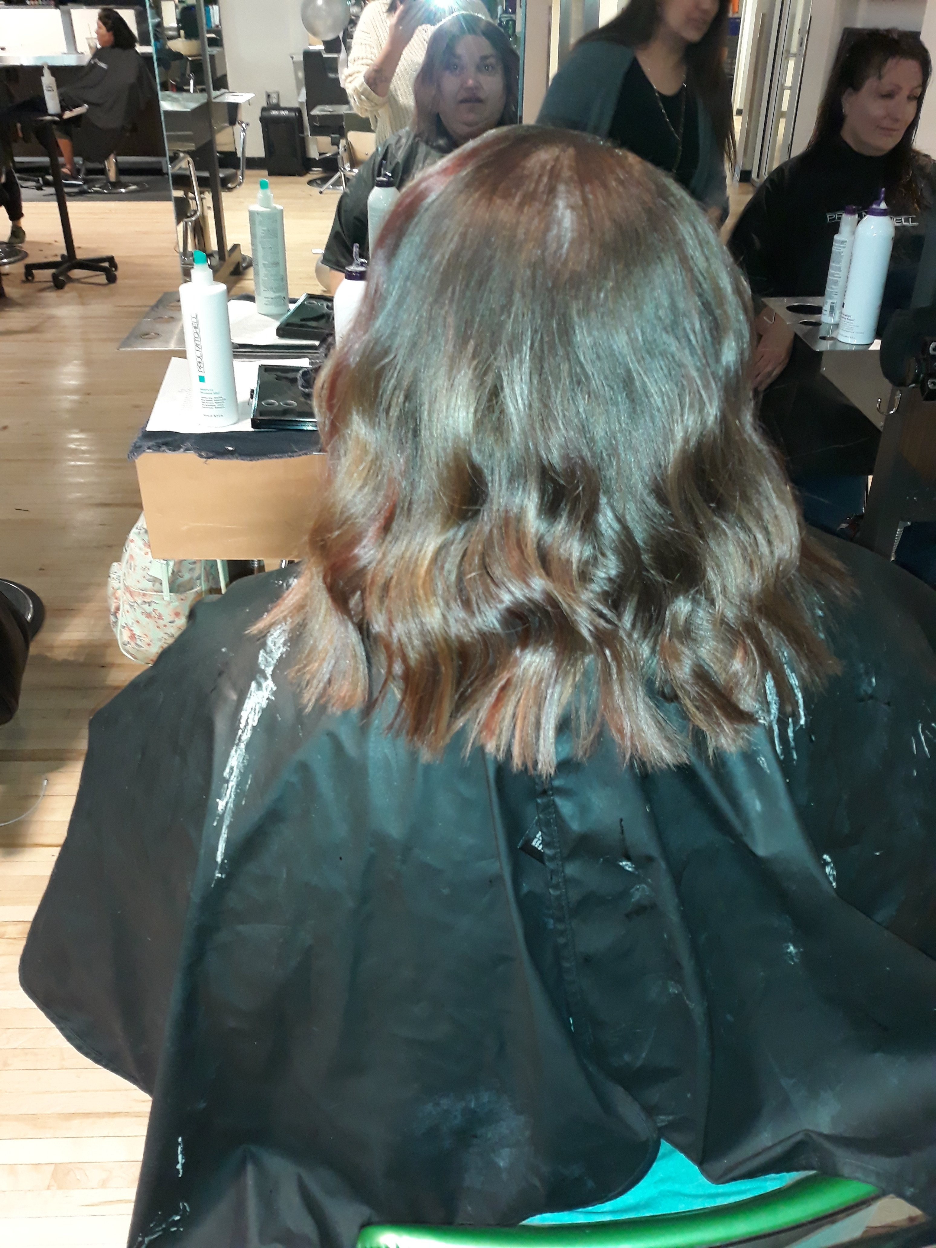 Kimberlee Plezia after her hair cut at Paul Mitchell Studios in Colorado Springs, CO