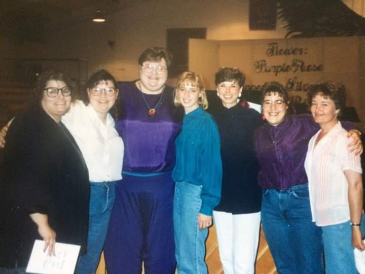 Julie Estes, Kimberlee Estes, Vicky Chiles, Sydney Pickard, Lynn Pickard, Shelley Monroe, Kathy Woller Stratton, CO  May 1994