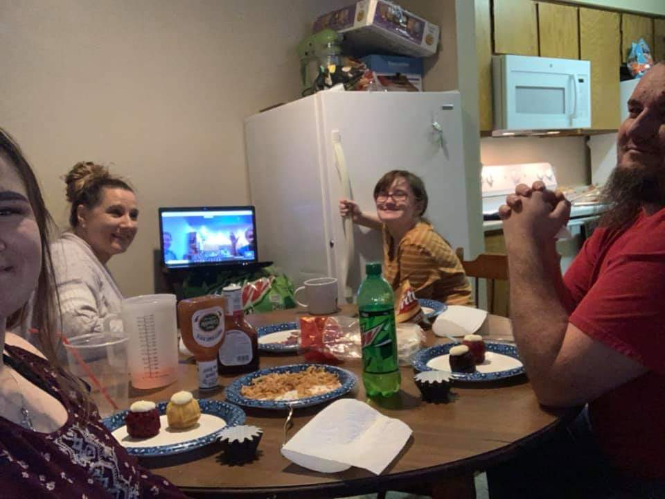 Family dinner social distance style photo credit Megan Nichols