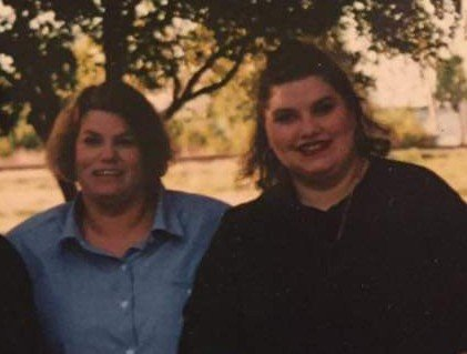 My mother and myself